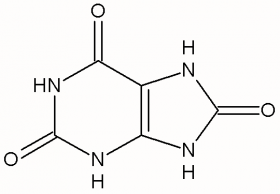 Figure 1. Chemical structure of uric acid.